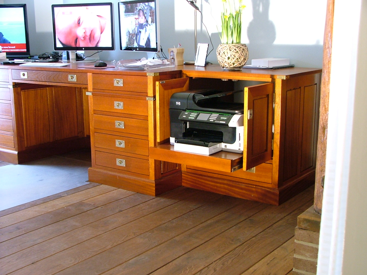 Bureau op maat military style meubelmaker marcel sanders